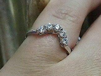 Jewellery-Ring-Designer-18 carat white gold and 5 diamond wedding band