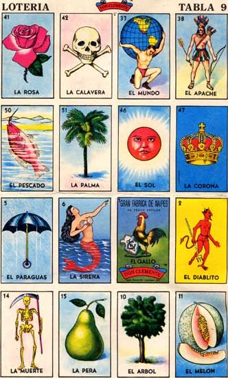 want to incorporate loteria cards as place cards or table numbers...