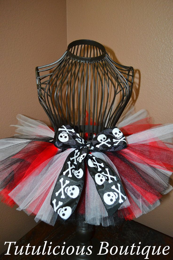 Red Black & White Pirate Tutu