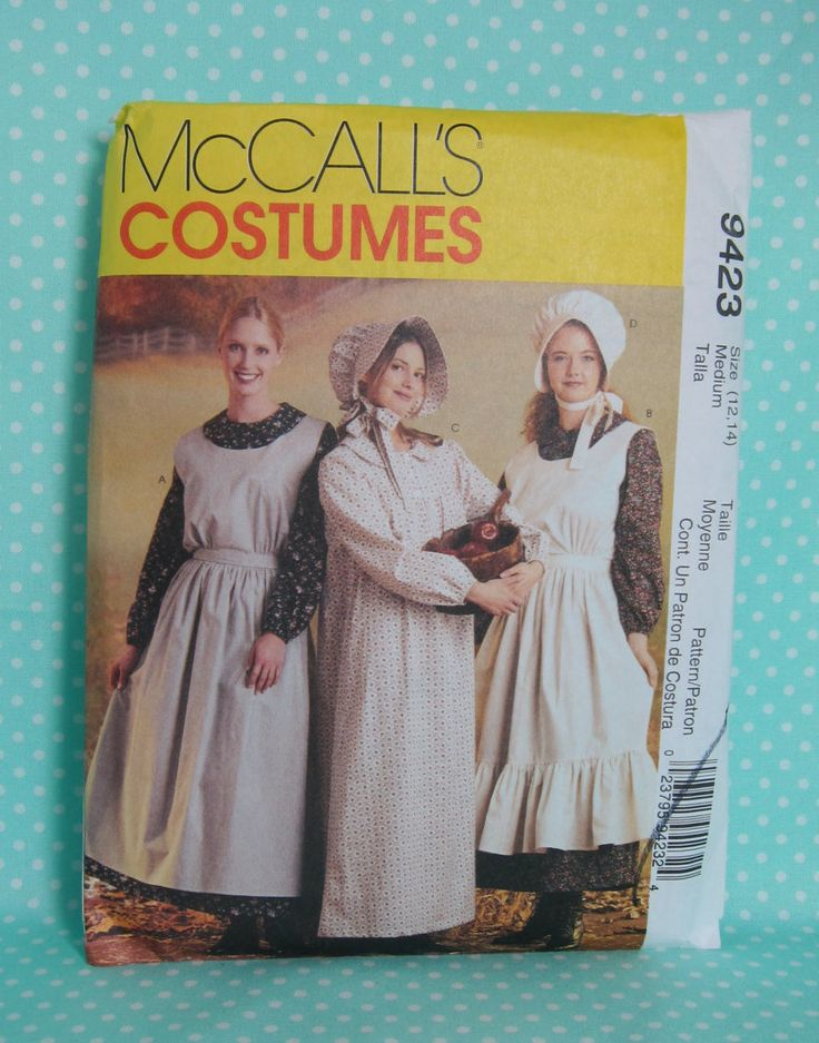 Cheapest Shipping Pioneer Costume Pattern. McCall's 7220/ McCall's 9423. Adult Size S & M, Oregon Trail, Rendevous, Mormon Trail by FashionSew on Etsy