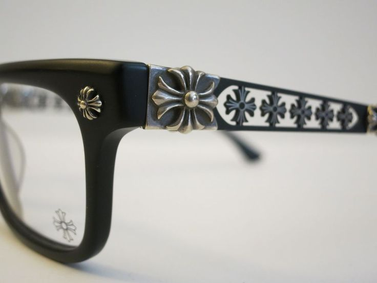 Chrome Hearts INSTABONE Matte Black Glasses Eyewear Eyeglass Frame Sterling Slvr #ChromeHearts