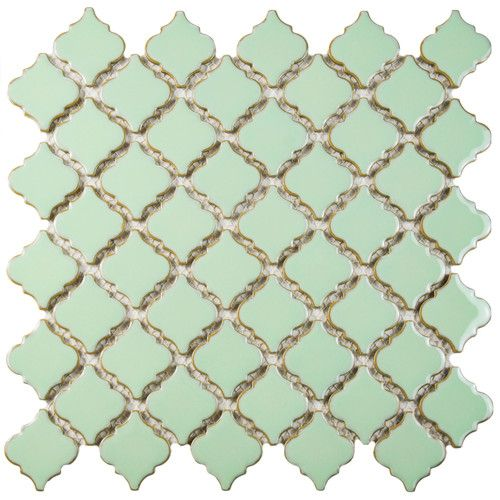 "Found it at Wayfair - Pharsalia 2"" x 2.25"" Porcelain Mosaic Tile in Light Green"