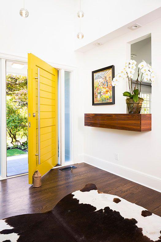 desire to inspire - desiretoinspire.net - J+R Katz Beautiful bold yellow big door!