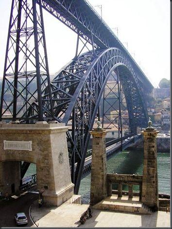 Restos de Colecção: Ponte D. Luís no Porto e pilares Norte da antiga Ponte Pensil