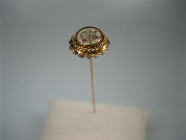 Antieke gouden hoedenspeld met inleg parels NR.GH201250 | Zeeuwse sieraden | Antieke sieraden - Oude sieraden - Nieuwe sieraden - Zilveren voorwerpen