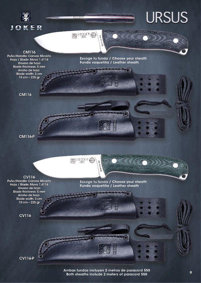cuchillos tacticos y caza cuchillos monte - BS9 URSUS - Joker - Cuchilleria Albacete