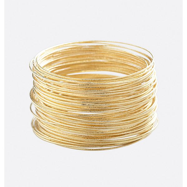 Avenue Textured Bangle Set 16 Liked On Polyvore Featuring Jewelry Bracelets