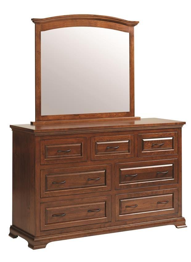 Amish Wilkshire Dresser with Mirror, $ sale in walnut with mirror, 59.5x20x36.5