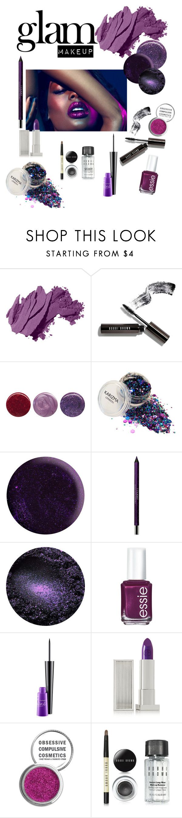 """""""Dark"""" by polivoremaker ❤ liked on Polyvore featuring beauty, Naeem Khan, Bobbi Brown Cosmetics, Deborah Lippmann, Manic Panic NYC, By Terry, Essie, MAC Cosmetics, Lipstick Queen and Obsessive Compulsive Cosmetics"""