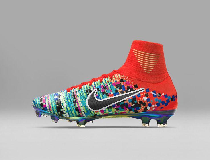 Nike Football X EA Sports Mercurial Superfly FG Cramoisi total Chaussure Nike Pas cher De football à crampons pour terrain sec pour Homme Orange