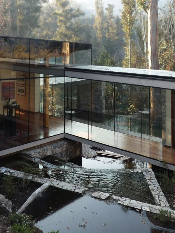 Santiago, ChileNature House, Dreams, Interiors, House Architecture, Glass Houses, Modern Home, Glasses House, Design, Fall Water