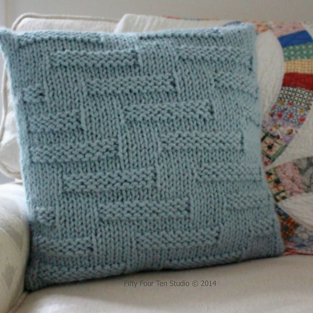 """Ravelry: """"Step in Time"""" Pillow pattern by Fifty Four Ten Studio"""