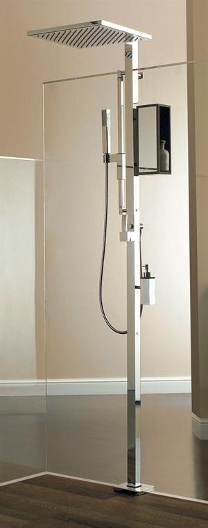 Brusesæt EMOZIONI Max II til montering på gulv. #interior #bathroom