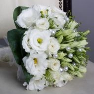 Pearly White Bridal Bouquet - Pearly White Bridal Bouquet > View Full-Size Im... | White, Pearly, Bouquet, Purchased, Aud | Bun