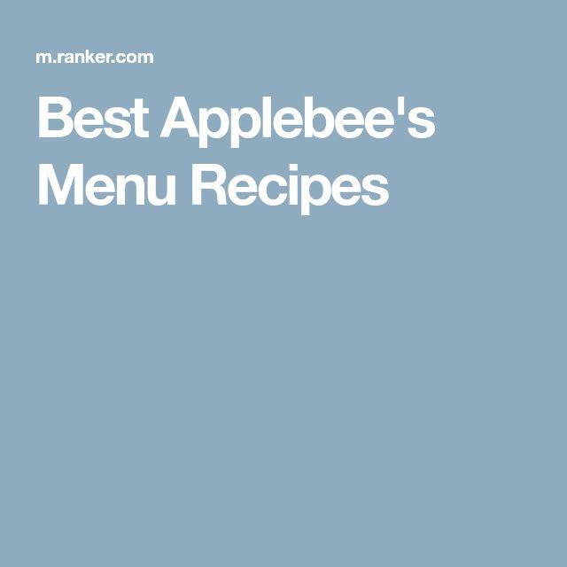 Best Applebee's Menu Recipes
