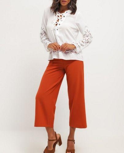 Dorothy Perkins Spodnie materiałowe orange