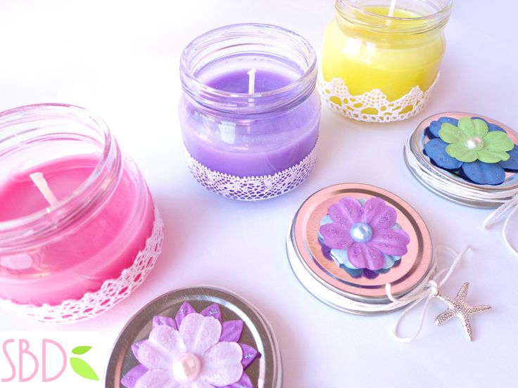 Candele profumate fatte in casa (no cera) - Scented candles home-made (no wax)