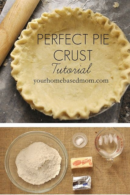 """""""Stressed out about your crust for Thanksgiving? Check out this easy tutorial! The perfect pie crust tutorial by yourhomebasedmom"""""""
