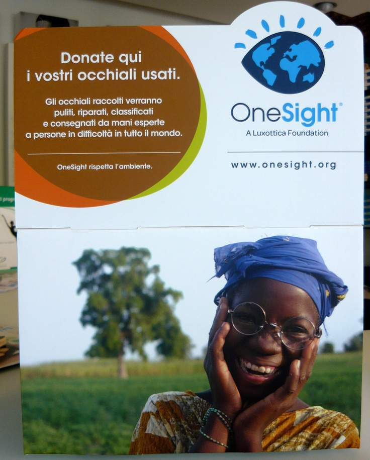 Gli occhiali raccolti verranno puliti, riparati, classificati e consegnati da mani esperte a persone in difficoltà in tutto il mondo. Bellissima iniziativa da premiare!