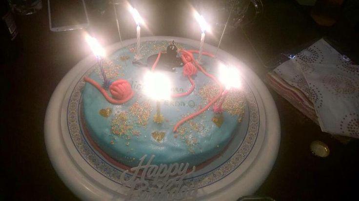 Ferdamın kedili pastası #birthdaycake #fondantcake #cat