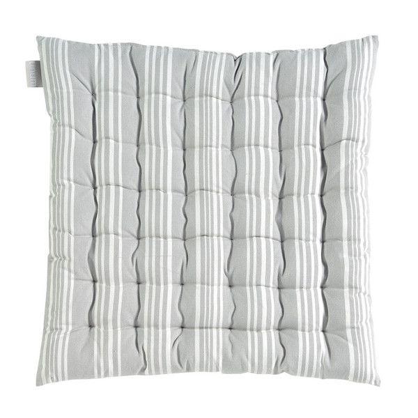 Washable meditation cushion in light grey.