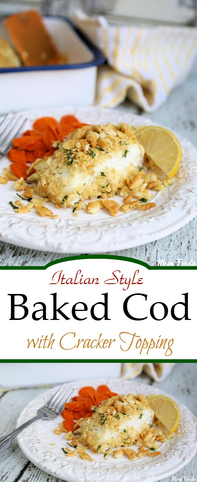 Italian Style baked Cod with cracker Topping