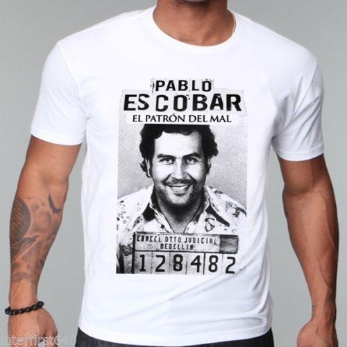 Pablo escobar t shirt men casual printed short sleeve t shirt US plus size S-3XL