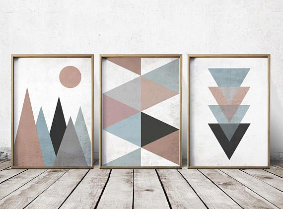 Wall Art Prints – Abstract Art Prints – Geometric Decor – Abstract Wall Art – Abstract Art Print – Norse Art – Triangle Art