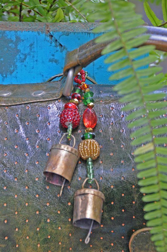 Handmade Beaded Key chain, Bag Accessories, #accessories @EtsyMktgTool #carcharm #handbagcharms #bellskeyring #keypurseaccessory #uniquegift