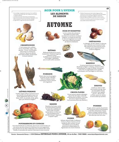 Planche Deyrolle : l'Automne (French)