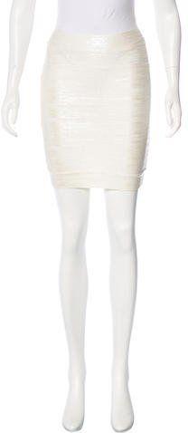 Herve Leger Idrissa Bandage Skirt