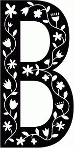Silhouette Design Store - View Design #68347: scandinavian folk decorative monogram b