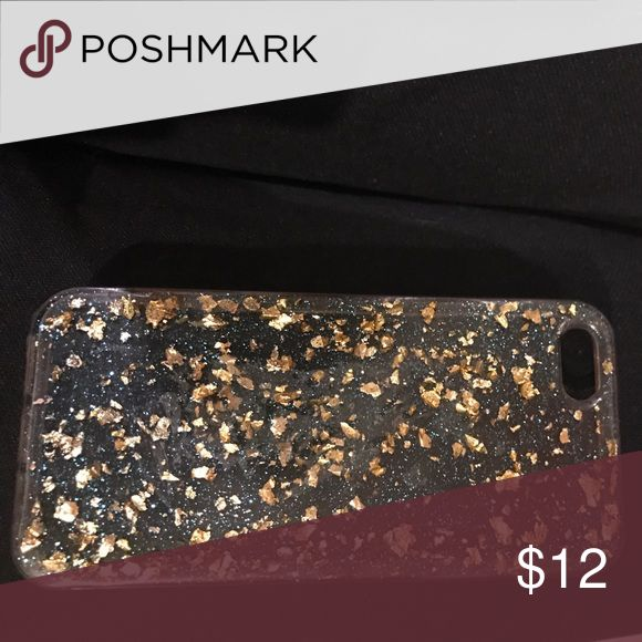 Clear sparkly phone case iPhone 5se from h&m Blue and gold specks on the clear case made for iPhone 5se from h&m H&M Other