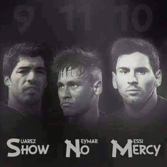 championsleague barca messi suarez on Instagram