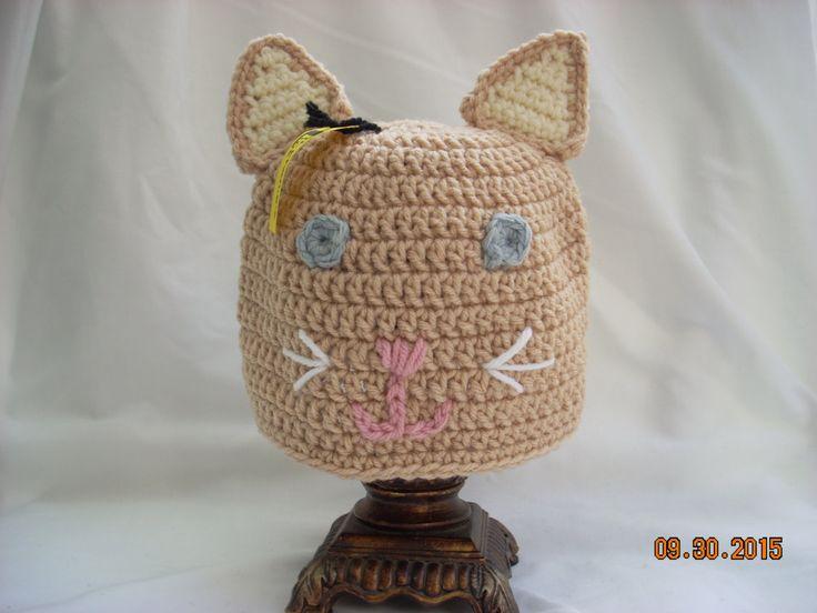 Child Cat Hat, Crochet Animal Hat, Crochet Cat Hat, Child Winter Hat, Girl's Animal Hat, Costume Hat, Girls' Winter Hat, Photo Prop by LiLphaniesLine on Etsy