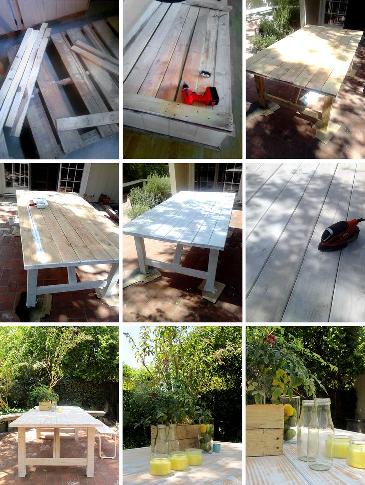 Mi última creación / My last work  DIY: mesa de exterior / outdoor table