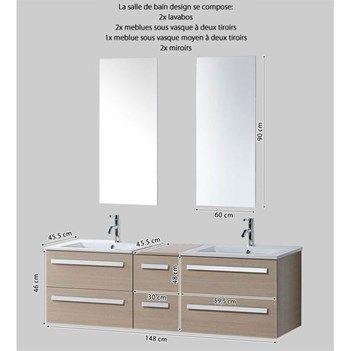 25 best ideas about meuble double vasque on pinterest