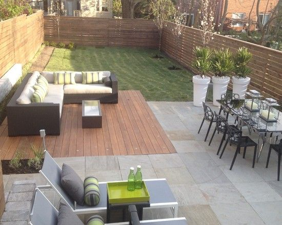 Row House Design Ideas, Pictures, Remodel and Decor ... on Modern Backyard Patio Ideas  id=82049