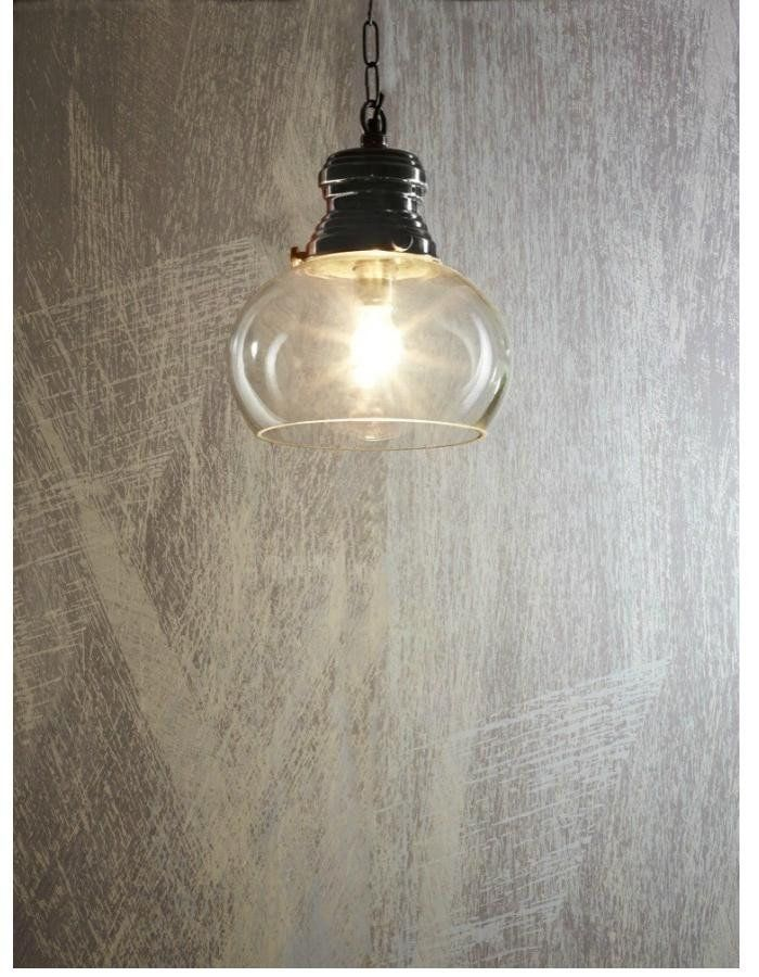 Paddington Small Pendant Light  The Paddington Small Pendant Light features a large glass bowl like shade.