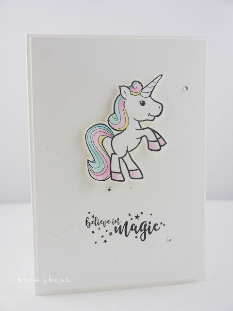 Stampin with Beemybear: Einhorn, believe in magic, unicorn