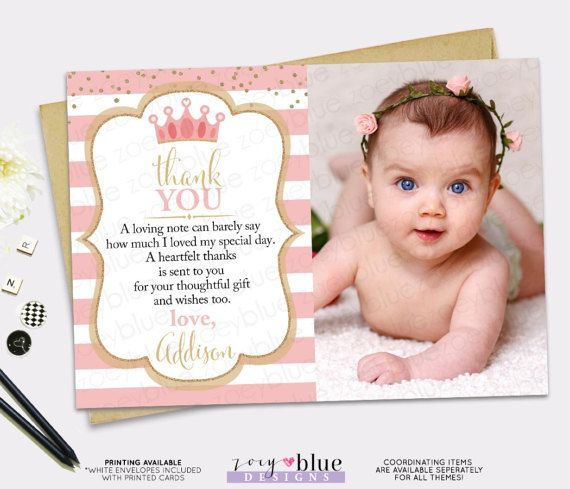 First Birthday Thank You Cards Forteforic