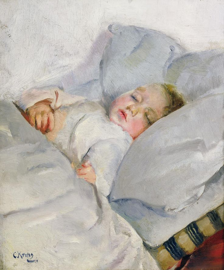 """Sleeping Child"" ... by Christian Krohg"