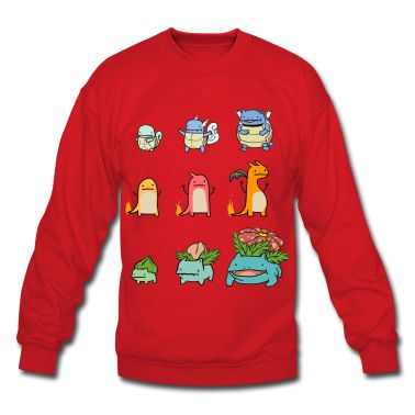 Squirtle Charmander And Bulbasaur Evolution Chart Shirt Long Sleeve  cakepins.com