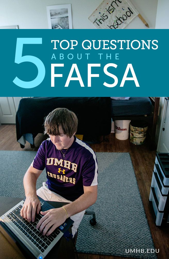 5 Top Questions about the FAFSA #college #financialaid #FAFSA