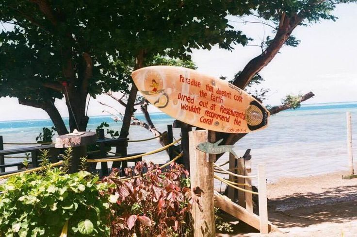 """You can't stop the waves but you can learn to #surf "" John http://www.funkyfishresort.com/funky-fish-fiji-surfing-resort/"