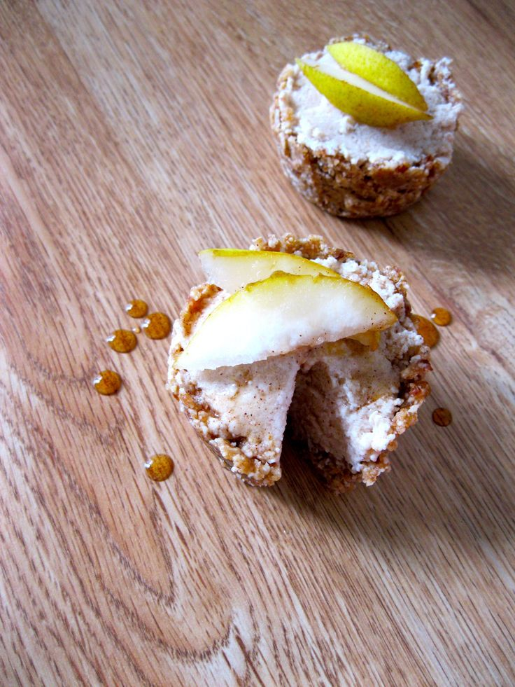 Spiced Pear Freezer Pies with Cashew Maple Crust | Pears, Freezers and ...