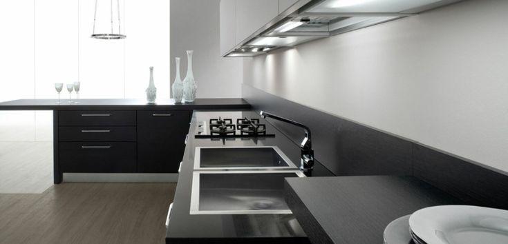 muebles de cocina grises laminados de madera