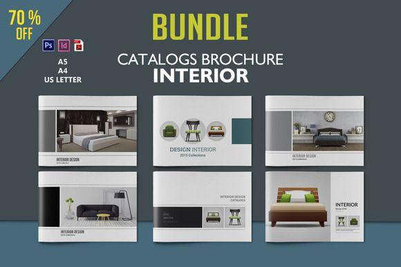 Interior Design Brochure Bundle by tujuhbenua on @creativemarket