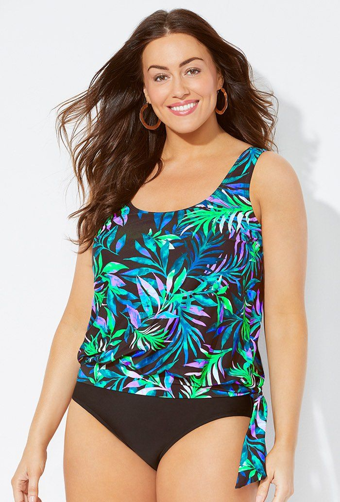 a4ec6cd1635 Plus Size Swimwear 4 You: 3 New S4A Blouson Tankini Top Styles on Sale