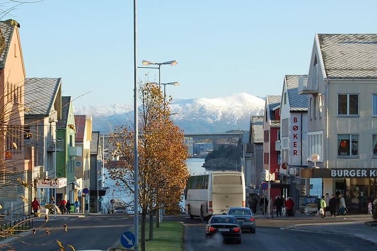 "Kaibakken Kristiansund, Norway "" The City of the Bridges"""